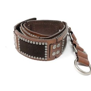 Calvin Klein | Leather & Suede Patch Stud Belt